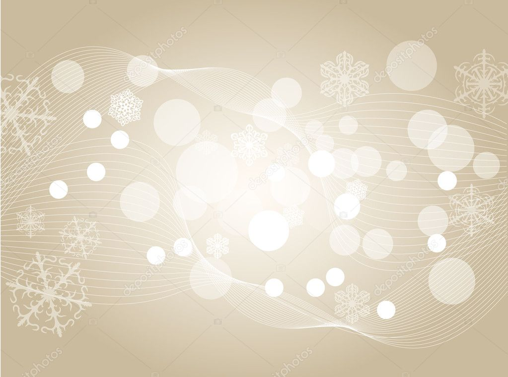 Vector Christmas background with white snowflakes and place for your text — Stock Vector #7186693
