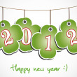 2012 quaterfoll happy new year - Stock Photo