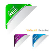 Vector Color corner ribbon — Stock Photo