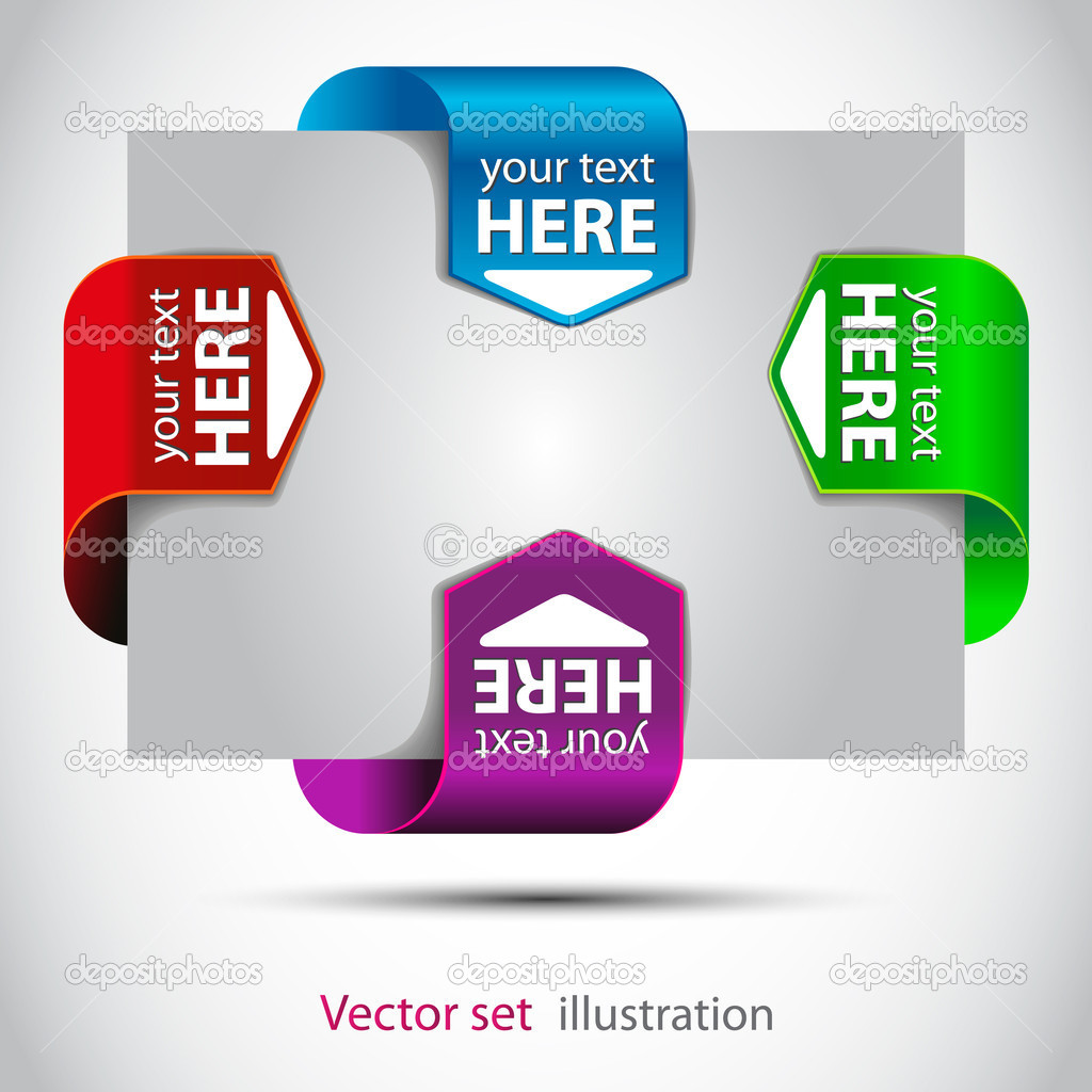 Color vector Stickers for the (web) page — Stock Vector #7474521