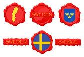 Sweden WS — Stock Vector