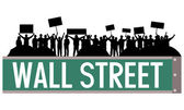 Wall street occupy — Stock Vector