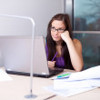 Student fed up with studying — Stock Photo