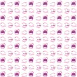 Gossiping Mouths Background Illustration — Stock Photo