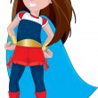 Super Hero Girl — Stock Photo