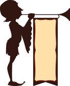 Court Trumpeter Illustration — Stock Vector