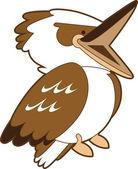 Laughing Kookaburra Cartoon — Stock Vector