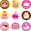 Stock Photo: Pink Cupcake Circles