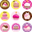 Royalty-Free Stock Photo: Pink Cupcake Circles