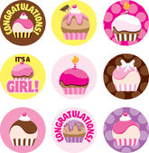 Pink Cupcake Circles — Stock Photo