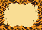 Tiger Fur Print Border — Stock Photo