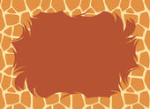 Giraffe Fur Border — Stock Photo