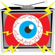 TV Eye Illustration — Stock Vector