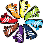 Rainbow Wheel Shoes — Stock Photo