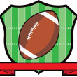Gridiron Football Shield — Stock Photo