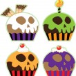 Halloween Skull Cupcakes - Stock Photo