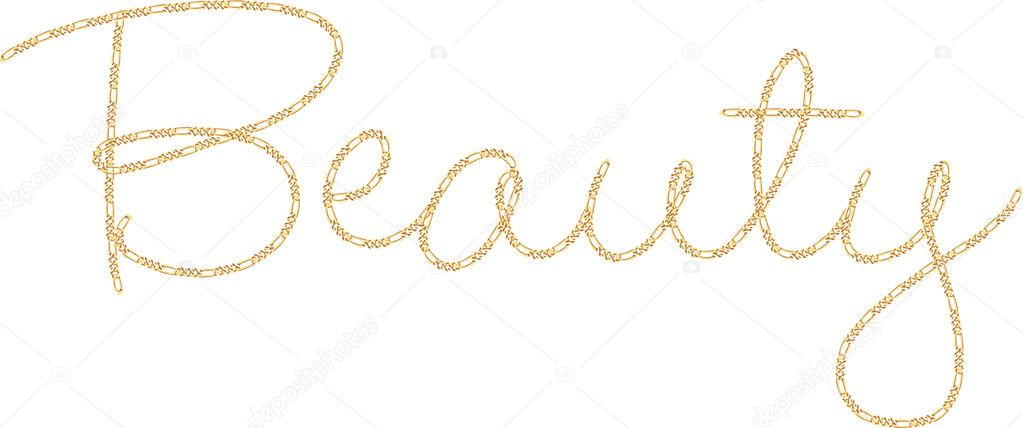 gold chain word beauty � stock vector 169 angeliquedesign