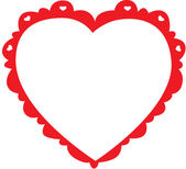 Cartoon Heart Frame — Stock Photo