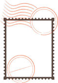 Postage Stamp Frame — Stock Vector