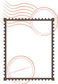 Postage Stamp Frame — Stockvektor