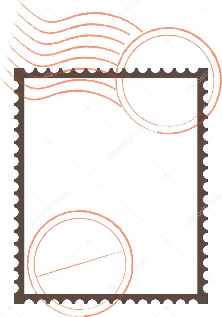 Postage Stamp Frame — Stock Vector © angeliquedesign #7469879