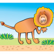 Lion children drawing - Stock Photo