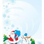 Santa snowman — Stock Photo #6874269