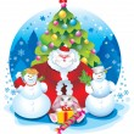 Santa snowman — Stock Photo #6874298