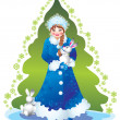 Snow maiden — Foto de stock #6874343