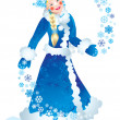 Snow maiden — Foto de stock #6874402