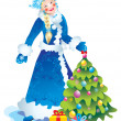 snow maiden — Stock Photo