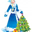 Snow maiden — Foto de stock #6874440