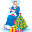 Snow maiden — Foto de stock #6874458
