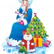 Snow maiden — Foto de stock #6874486