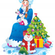 Snow maiden — Stock Photo #6874486