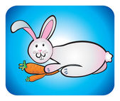 Rabbit children drawing — Stockfoto