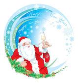 Santa happy new year — Stock Photo