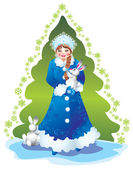 Snow maiden — Stockfoto