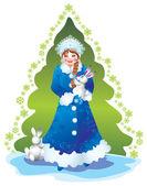 雪の乙女 — ストック写真