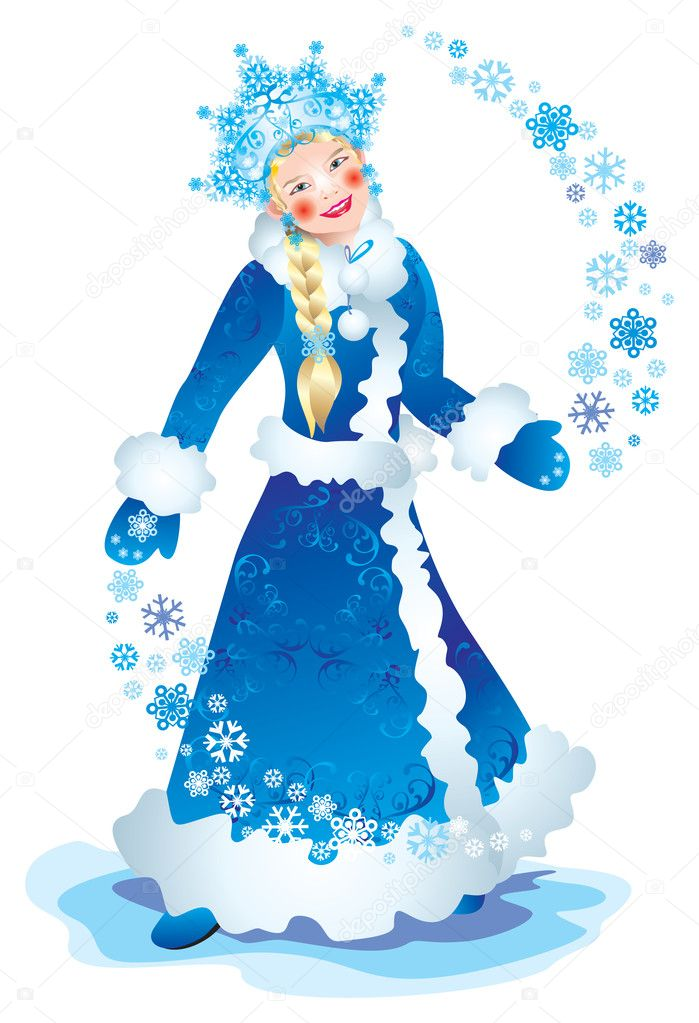 Christmas Card Snow Maiden — Stock Photo #6874402