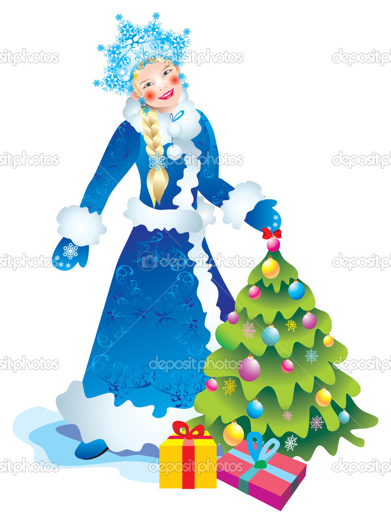 Christmas Card Snow Maiden  Stock Photo #6874440