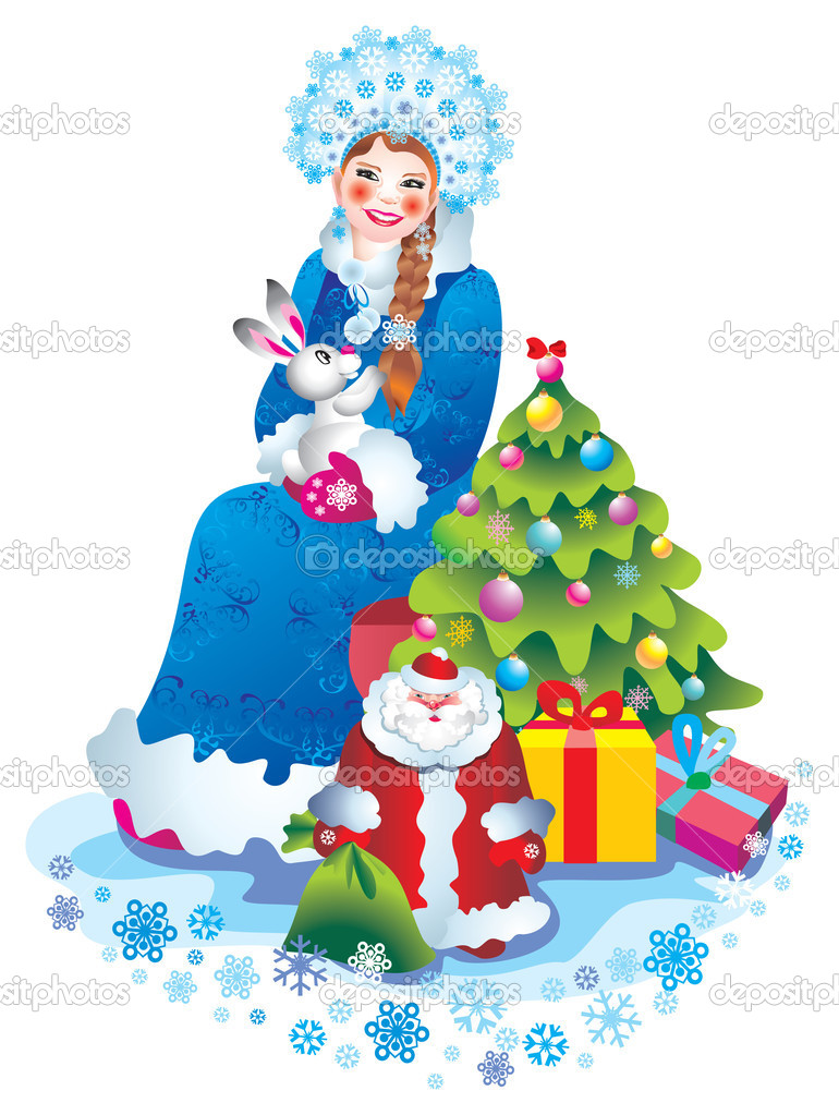 Christmas Card Snow Maiden — Stock Photo #6874486