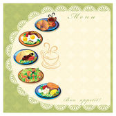 Food menu — Stockfoto