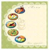 Menu de comida — Foto Stock