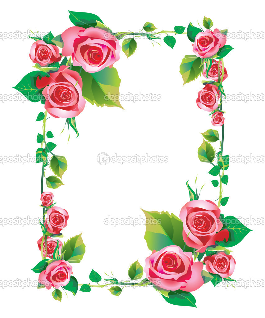 Frame rose - Stock Image