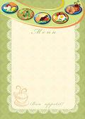 Voedsel menu — Stockfoto