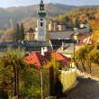 Autumn in Banska Stiavnica, Slovakia UNESCO — Stock Photo