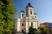 Parish church in Banska Stiavnica, Slovakia UNESCO — Stock Photo