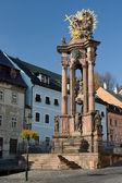 Dżuma kolumna świetej trójcy w banská štiavnica, slovakia — Zdjęcie stockowe