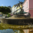 Fountain in the town of Svitavy, Czech Republic - Stock Photo